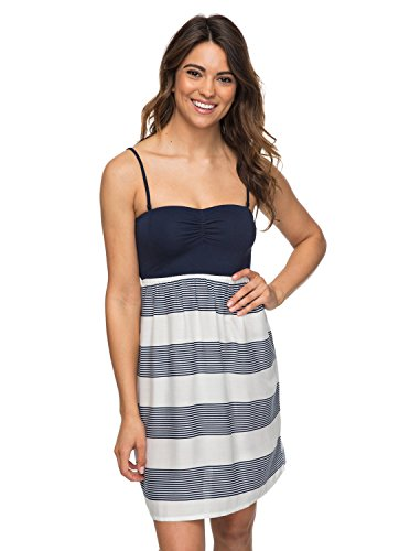 Roxy Junior's Ocean Romance Dress, Marshmallow Dress Blue Docker, M by Roxy