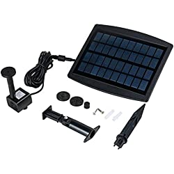 uxcell Solar Bird Bath Fountain Pump for Garden Patio 2.5W Solar Panel Kit Water Pump Outdoor Watering Submersible Pump