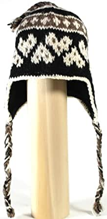 Napa code 51 Nepal Hand Knitted Made in Nepal Mountain Napa Sherpa Trapper Mixed colors ski knitted hat with thick Inner Fleece Lining for Women and Men.
