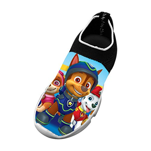 PAW Dog Patrol Unisex Children Breathable Mesh EVA Warm FlyKnit Sneaker Runner 3D Printed Elasticity Shoes