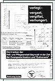 """Front cover for the book Verlegt- dann vergast, vergiftet, verhungert : die Kranken der Heil- und Pflegeanstalt Bayreuth in der Zeit der Zwangssterilisation und """"Euthanasie"""" by Norbert Aas"""