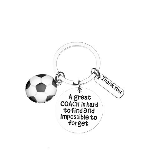 Sportybella Soccer Coach Keychain- Soccer Coach Gifts- Soccer Great Coach is Hard to Find Jewelry - Perfect Soccer Coach ()
