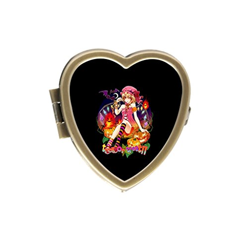 SolfTop Pill Box Flandre Halloween Scarlet Touhou Wings Custom personality Bronze Stainless Steel Pill Case Pocket/Purse/Travel Pill Box
