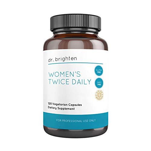 Dr. Brighten Women's Twice Daily – Full-Spectrum Multivitamin Dietary Supplement with Albion Chelated Minerals for Maximum Absorption and Bioavailability