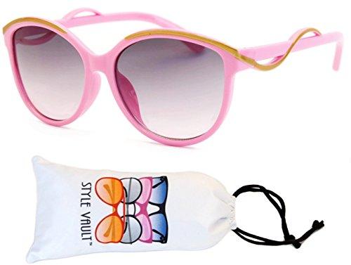 Kd04-vp Kids Child (2-10yr Old) Wayfarer 80s Sunglasses (T3066H Baby pink-smoked, - Sunglasses 80s Baby Kid