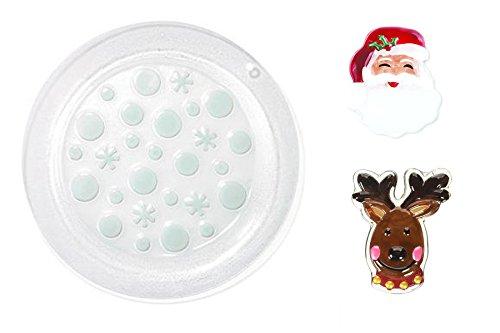 Demdaco Santa Pop In, Reindeer Pop In, and Pop In Seasonal Round Platter Set (Santa Round Platter)