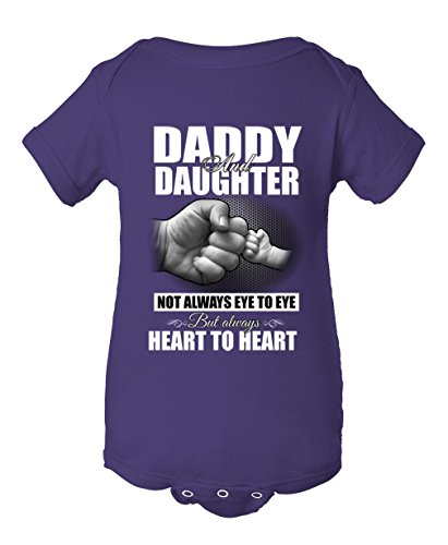Daddy and Daughter Infant Baby Rib Bodysuit with Berry Unisex Short Sleeve (Who Is The Purple Ninja Turtle)