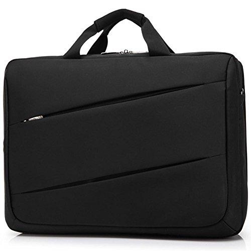 TT Bolso de la computadora de 17 pulgadas del negocio del bolso de hombro de la cremallera de los hombres , 17 inches Black