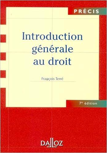Livres Introduction générale au droit pdf, epub