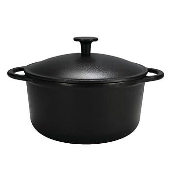 Krüger 61024 Gusseisen-Topf, Rustica, 24 cm, schwarz: Amazon.de ...