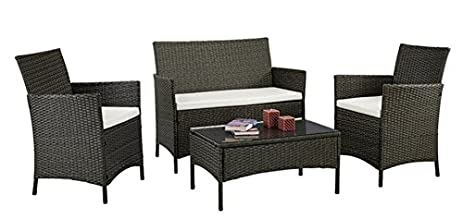 Amazon.com: Patio Furniture Set Clearance Rattan Wicker Patio ...