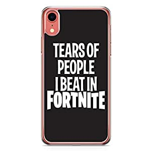 Loud Universe iPhone XR Cover Fits iPhone XR Transparent Edge Fortnite Phone Case Tears Of People Case