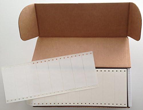/3 1//2 x 15//16 Box of 5,000 Linco White Pinfed Continuous Pressure-Sensitive Labels