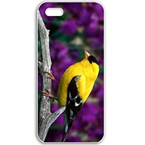 Apple iPhone 5 5S Cases Customized Gifts For Animals Male American Goldfinch Wide Birds Animals White