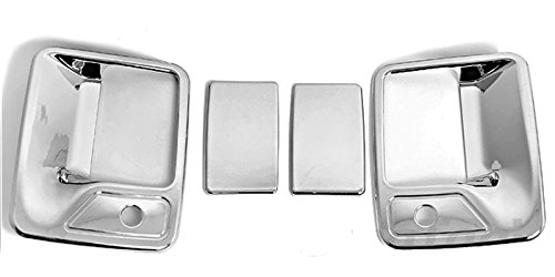 MaxMate Fits 99-12 Ford F250/F350/F450 Super Duty Chrome 2 Doors Handle Cover With Passenger Side Keyhole