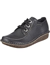 Clarks Funny Dream Navy Leather (Blue) Womens Shoes