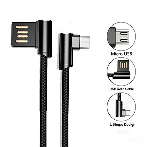 PTron Solero Micro USB Cable 2.4A Fast Charging Cable 1.2 Meter Long USB Cable - (Black)