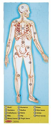 Melissa & Doug Human Anatomy 2-Sided Jumbo Jigsaw Floor Puzzle (100 pcs, over 4 feet tall) -
