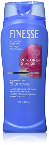 Finesse Restore + Strengthen Moisturizing Shampoo, 13 oz (Pack of 6) Moisturize & Repair Dry or Damaged Hair for Soft, Healthy Looking Hair (Finesse 2 In 1 Shampoo And Conditioner)