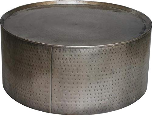 Round Hammered Metal Coffee Table 11