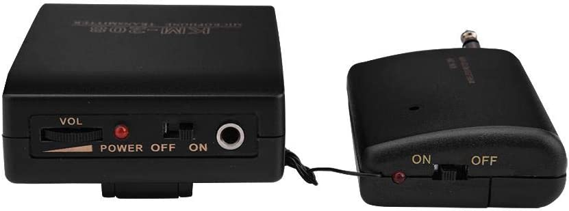 Samfox Microphone Clip-on Hand-free Wireless Mic Microphone Kit FM Transmitter Receiver