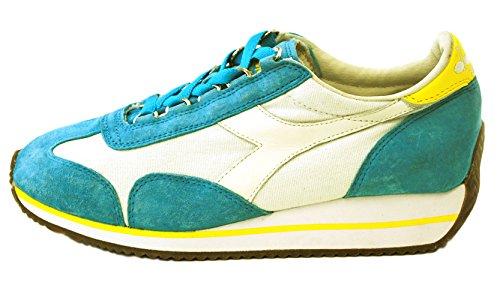 20115603001C6162 Diadora Heritage Sneakers Women Fabric Gray Celeste/Bianco/Giallo