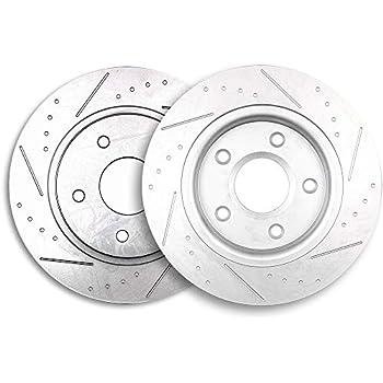 Front Drill Slot Brake Rotors /& Ceramic Pads For Town Country Grand Caravan VW
