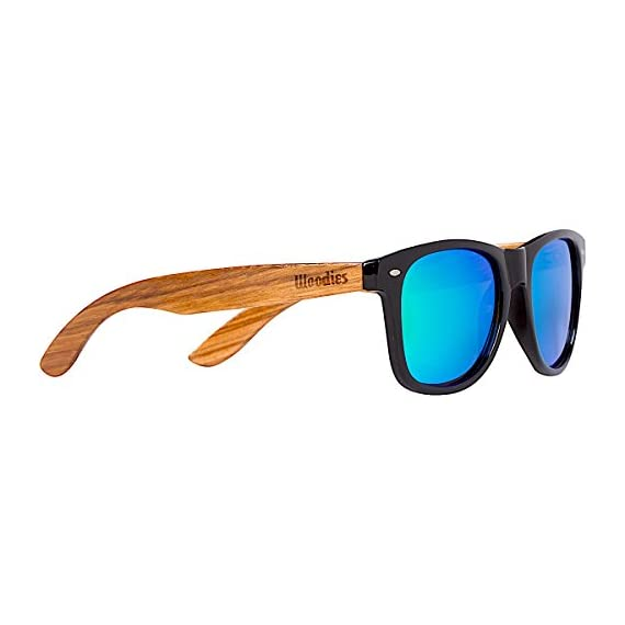 Woodies Zebra Wood Sunglasses with Mirror Polarized Lens for Men and Women (Green) 1 <p>Woodies Zebra Wood Sunglasses with mirror lens offer a combination of 100% real zebra wood arms that support a plastic frame. The lightweight zebra wood offers a comfortable fit that is durable and sturdy at the same time. Our unique stainless-steel, double-spring hinges are sturdy and designed to keep their shape year after year. The lenses are specially designed so that they are both dark and polarized, offering 100% UVA/UVB protection even in intense lighting conditions. These glasses are stylish, durable, and natural. Each pair includes a durable black carrying case, a microfiber lens cleaning cloth and a wood guitar pick! 30-Day Money back Guarantee With Woodies, I set out to create the world's best value for $25 sunglasses. Compare these to Shwood, Knockaround Toms, Neff, 4est, Quay, Oakley, and even RayBans! If you're not convinced these are the best quality for $25, we'll give you a full refund. Espanol: Lentes de Sol para Hombre y Mujeres, Gafas Handmade from REAL Zebra Wood (50% Lighter than Normal Sunglasses) Includes FREE Carrying Case, Lens Cloth, and Wood Guitar Pick Polarized Lenses Provide 100% UVA/UVB Protection 30-Day Money Back Guarantee</p>