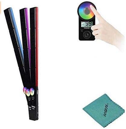 YONGNUO YN360III 3200-5500K Bicolor + RGB Computadora de Mano LED a Todo Color Luz de Video Regulable Barra de luz de llenado Modo de Ajuste táctil CRI 95+ con 10 Modos de iluminación