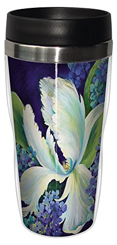 Tree-Free Greetings sg23712 Hydrangea Arrangement by Nel Whatmore Travel Tumbler, 16-Ounce