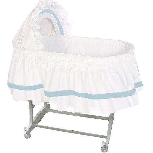 aBaby Modern Style Short Bassinet Skirt, Blue, Small by Ababy