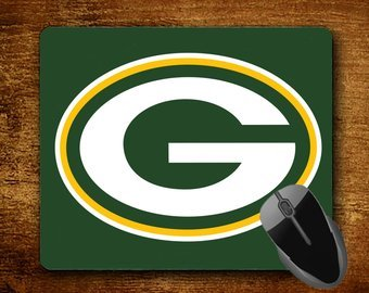 Customized Monogrammed Mousepad Custom Mouse Pad Green Bay Packers Sports Fan Mousepad #4029 (Green Bay Packers Office Supplies)