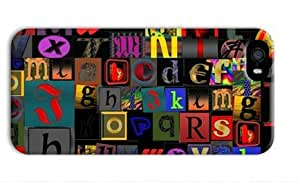 Colorful English Letters for Iphone 5 5s 3D Case