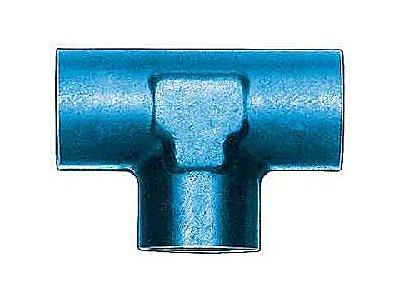 Aeroquip FCM2150 Blue Anodized Aluminum 1/8'' NPT Female Pipe Tee