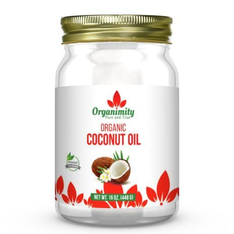 Organimity 100% Organic Unrefined Extra Virgin Coconut Oil - 16oz- Cold pressed