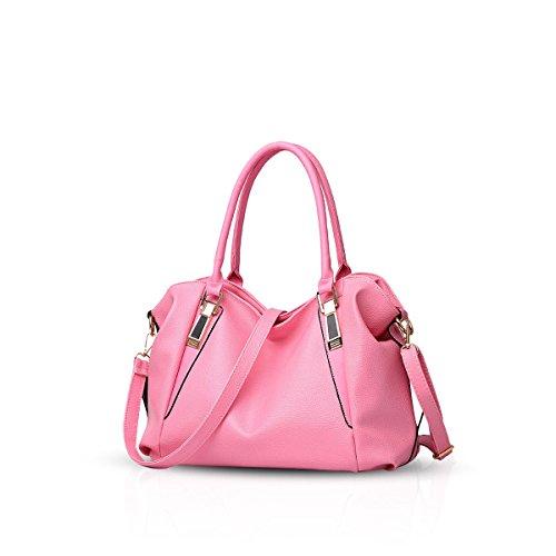 Sac dames Messenger de amp;Doris Sac classique Pink main Sacs sac la sac femmes Femme souple à Rose casual nouveau Nicole mode portable rose bandoulière UX0qfwZq