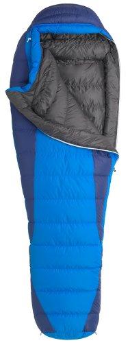Marmot Sawtooth Long X-Wide Down Sleeping Bag, Long-Right, Blue, Outdoor Stuffs