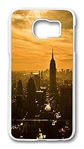 Brian114 Case, S6 Case, Samsung Galaxy S6 Case Cover, Empire State Building New York City Retro Protective Hard PC Back Case for S6 ( white )