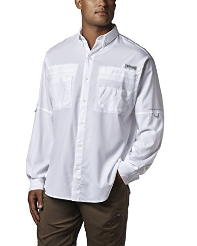 Shirt Button Tech Down Dry (Columbia Men's Plus Tamiami II Long Sleeve Shirt, White - Large Tall)