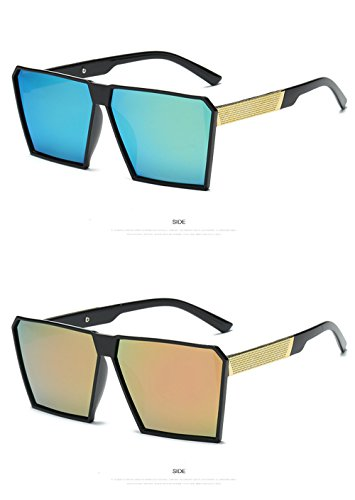 UV400 Gafas alta Matte Unisex de hombre mujer Mode gafas espejo renden gafas nerd para Gafas sol diseño efecto Retro sol polarizadas for de retro de Rubber sol y calidad 6 Espejo nbsp;reflectantes Vintage rzqfrI