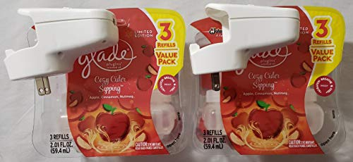 Glade PlugIns Scented Oil Refill - Cozy Cider Sipping - 6 Refills and 2 Warmers