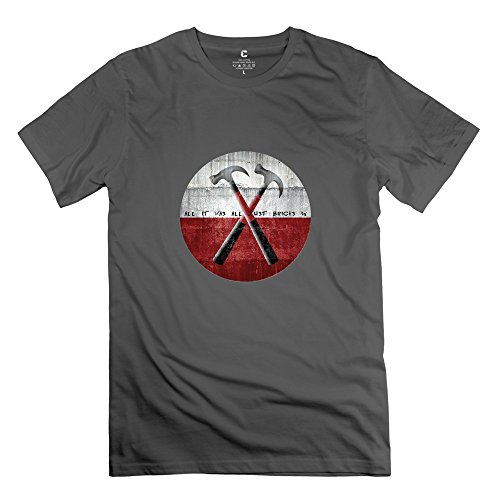 WXTEE Men's Roger Waters Hammers O-Neck T-shirt Size L DeepHeather ()