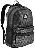adidas Unisex Hermosa II Mesh Backpack, Flow Blur Grey/Black, ONE SIZE
