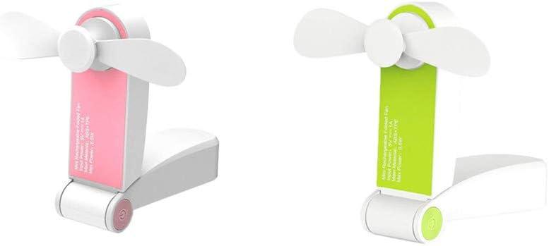 FBGood Mini Ventilador eléctrico portátil USB – 2 Ventilador de ...