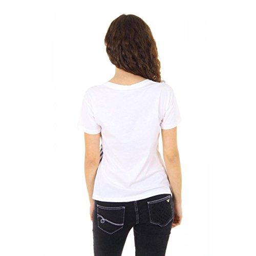 Emporio Armani Camiseta De Mujer Manga Corta Agh60 Ax 1d A Rayas