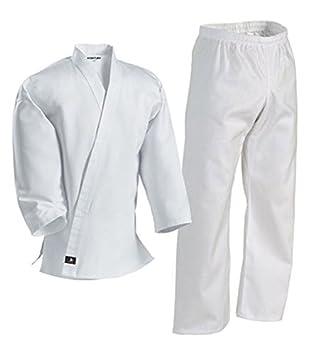 Century Martial Arts White Karate Uniform with Belt Light Weight Elastic  Waistband & Drawstring for Adult & Children Size 000-7