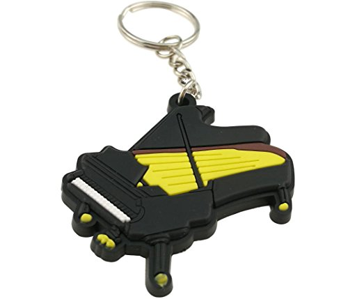 (Creative Bright Color Musical Instrument Keychain Key Ring Figure For Gift Decoration (Piano))