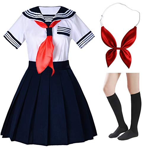 Japanese School Girl Uniform Costumes - Japanese School Girls Short Sleeve Uniform