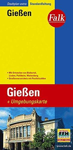Falk Stadtplan Extra Standardfaltung Gießen