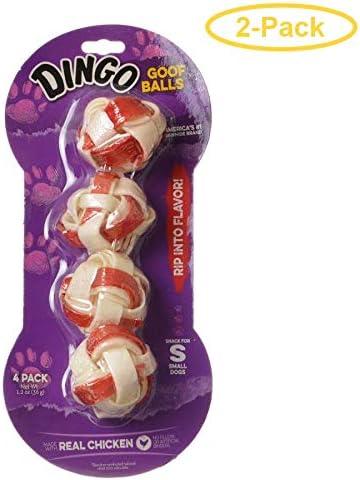Dingo Goof Balls Chicken Rawhide Chew Small – 1 4 Pack – Pack of 2